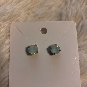 Francescas opalish sparkly large stud earrings